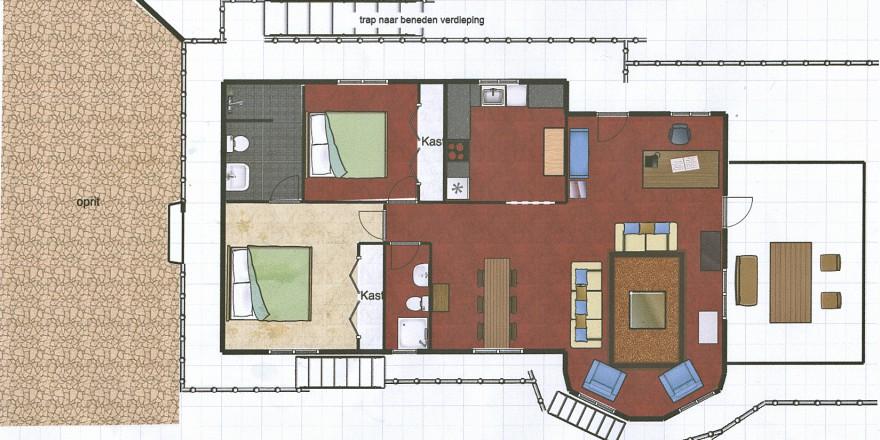 plattegrond Casa Bodega Denia